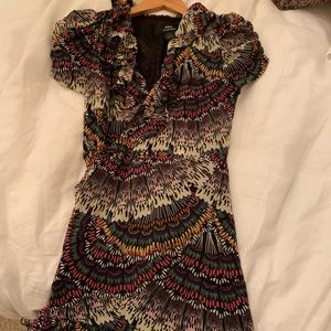 Jill Stuart Wrap Dress Multicolor Size 4